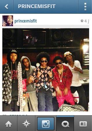 Prince et Ray été o studio avc Lil'twist