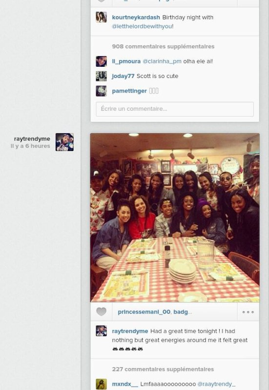 Les MB était hier au resto avec leur amis!