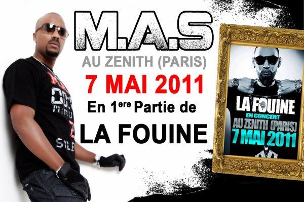 CONCERT LA FOUINE + M.A.S 1ére Partie Au Zenith