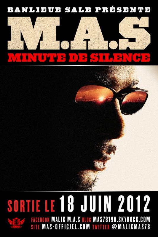 """POCHETTE DE MON ALBUM """"MINUTE DE SILENCE"""" DANS LES BACS LE 18 JUIN"""