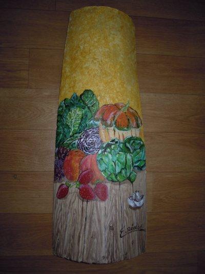 """Tuile """"fruits et légumes"""" qui est maintenant chez nos amis Caro et Dominic"""