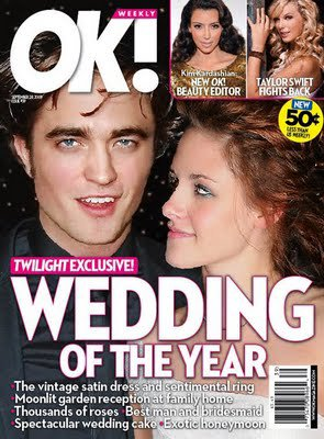 ➪ Robert Pattinson et Kristen Stewart : Mariage de l'année selon OK Magazine ☼