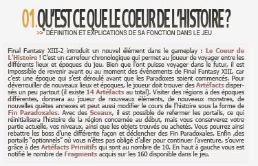 Dossier : Le Coeur de l'Histoire