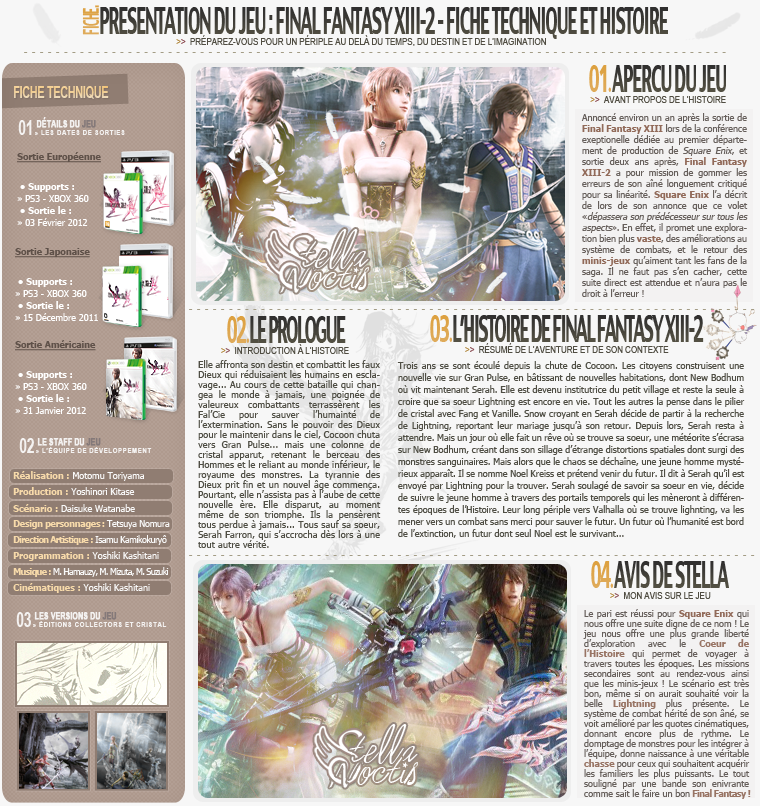 Fiche de Final Fantasy XIII-2