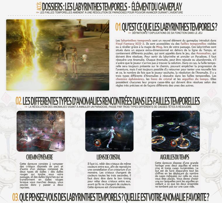 Dossier : Les Labyrinthes Temporels