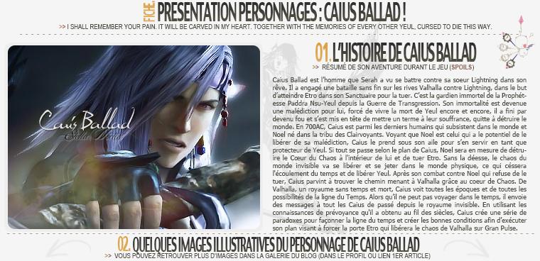 Fiche Personnage : Caius Ballad