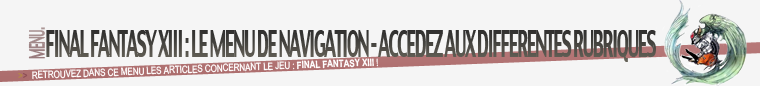 Menu : Final Fantasy XIII