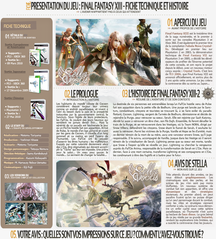 Fiche : Final Fantasy XIII