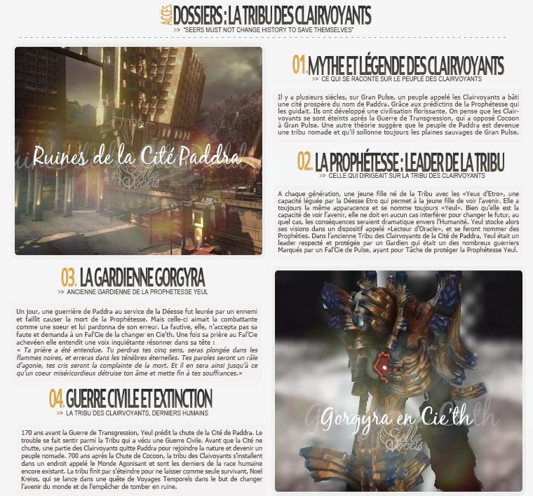Dossier :  La Tribu des Clairvoyants