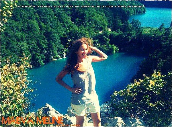 .25 Juillet : Maeva a posté une nouvelle photo sur son Facebook elle est de retour en France ^^.