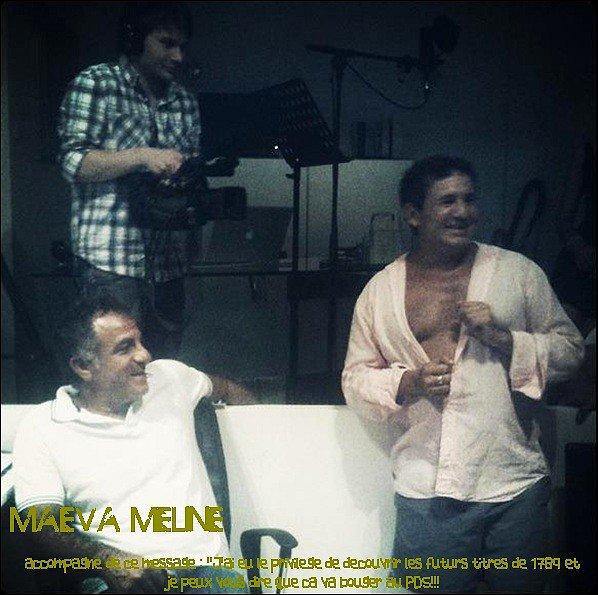 .27 Aout : Mae' nous a postée une nouvelle photo des coulisses de la nouvelle comédie musicales de Dove & D'Albert Cohen.