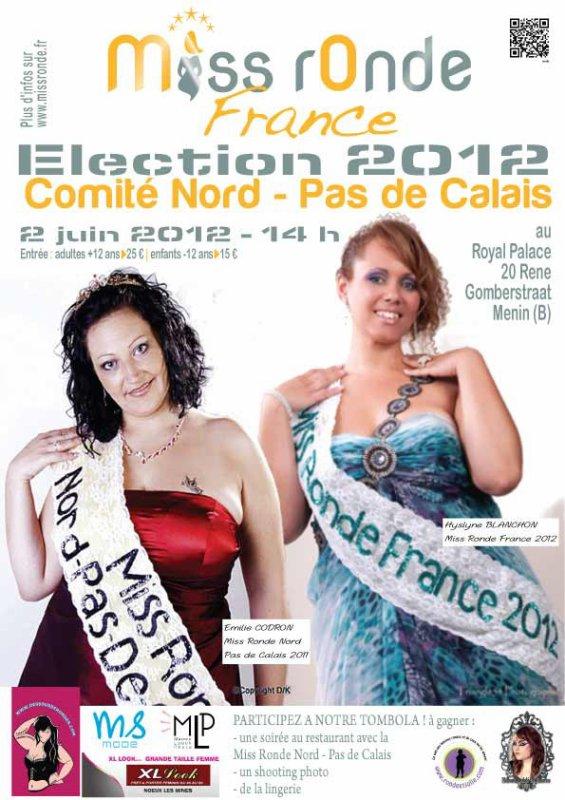 Election Miss Ronde Nord Pas de Calais du 02 juin 2012