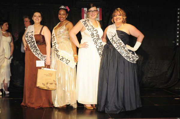 Les gagnantes de l'Election Miss Ronde Nord Pas de Calais 2012