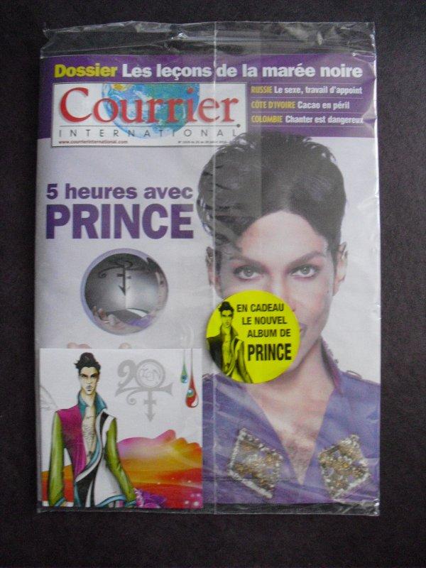 A vendre : Le Courrier International Spécial Avec 5 heures d'interview avec Prince ! Et son Album 20Ten !!!!