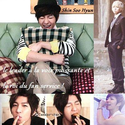 Shin Soo Hyun, le leader à la voix puissante et le roi du fan service !
