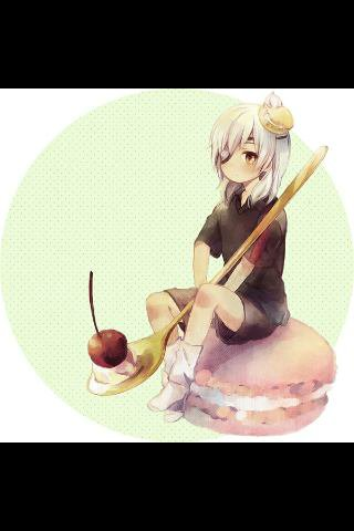 Nyaa le pitit Samford sur un macaron géant *0*