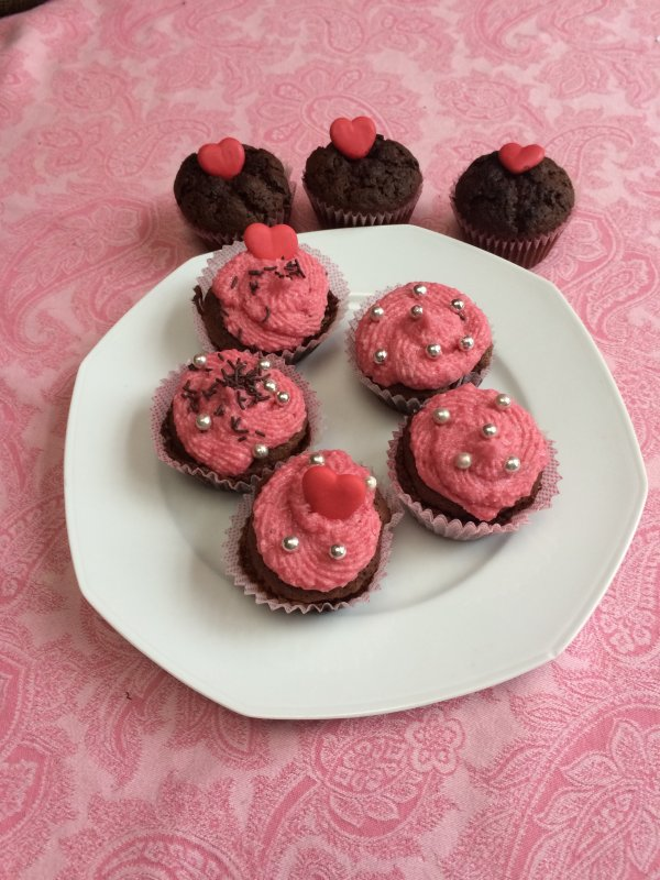 Cupcakes chocolat-fraise!
