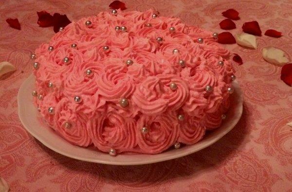 Gâteau à la rose et en forme de rose!