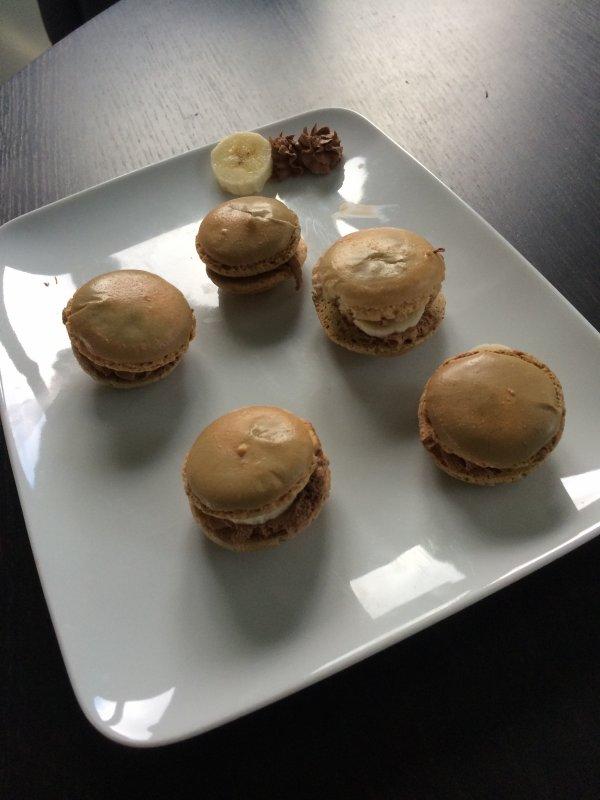 Macaron chocolat-banane!