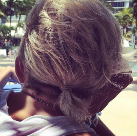 Ross's hair! ♥