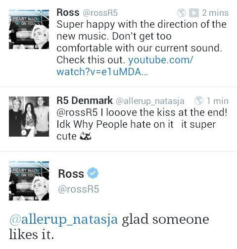 Ross's Twitter .. Sa réaction! :o