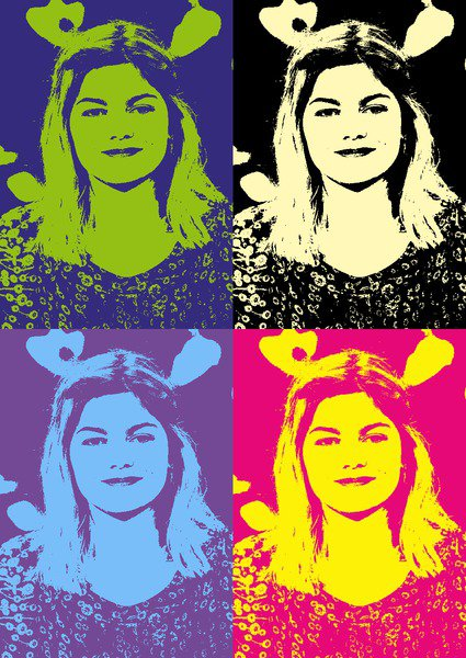 Louane en portrait Pop art