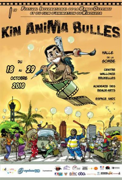 L'artiste Bédéiste JR Mokanse au festival Kin Anima Bulles