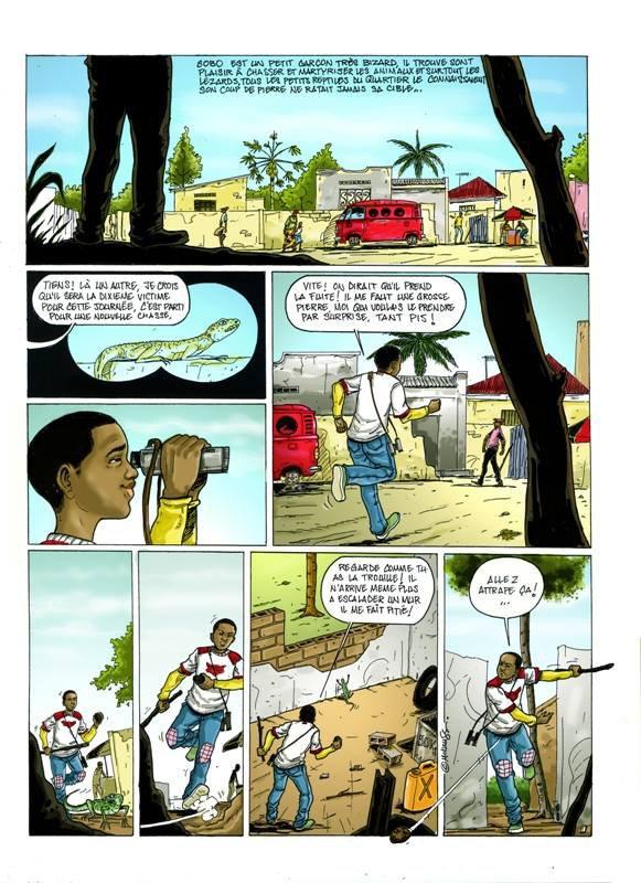 Bande dessinée de Ger JR Mokanse