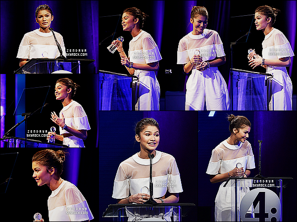 * 19/01/15 :. Zendaya  était présente lors de la 2nd cérémonie des  Unite 4 Humanity    situé dans Beverly Hills.     Zendaya  a reçu un award pendant cette cérémonie. De plus, il lui a été remit par la chanteuse Demi Lovato, un jolie moment entre elles ! *
