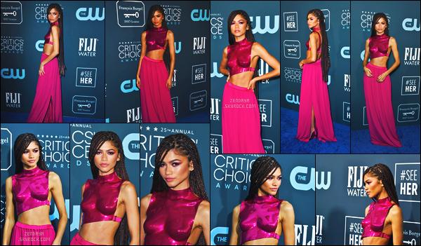 - 12 JANVIER 2020 ☾  Zendaya C. était aux  «Critics Choice Awards » à Santa Monica.  -