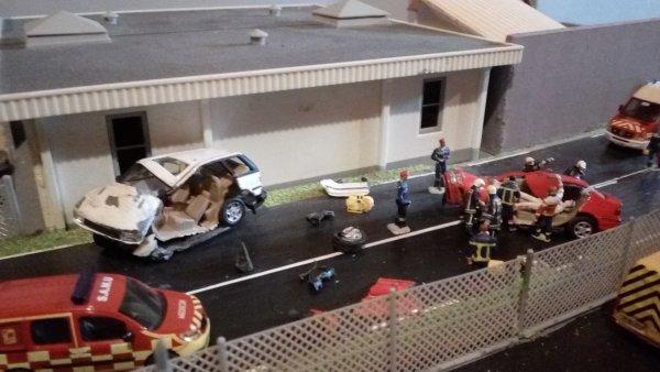 accident grave dans un choc frontal  juin 2018