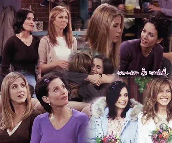 Monica & Rachel Rachel : (en pleurant) Je ne sais pas comment je vais faire sans toi. - Monica : Tu es la meilleure amie que je n'ai jamais eue.