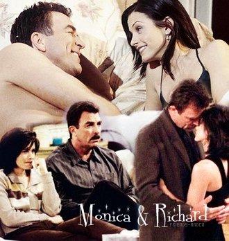 Monica & Richard Richard : Ma chérie, j'adorerais faire tout ça. Mais rien n'a changé. - Monica : C'est pas vrai. Tu n'as plus de moustache.
