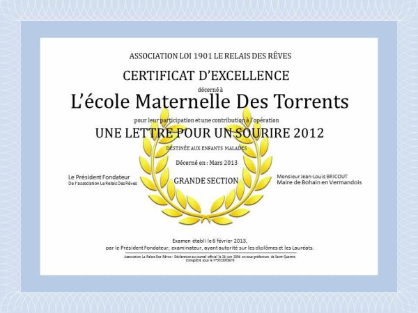 Diplome 2012 (suite)
