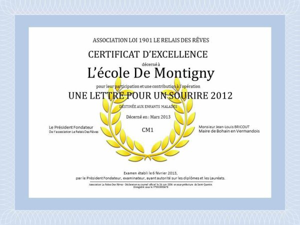 Diplome (suite)