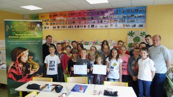 Remise du diplôme à Montigny