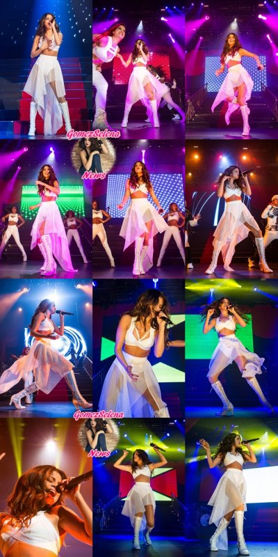 08/02/2014: Selena a donné un concert à Hidalgo au Texas.
