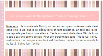 ♦ Article Actrice ; MANDY MOORE.                     ► deliciously-pearl.skyrock.com  ▪ Création | ▪ Inspi Création | ▪ Décoration |▪ Inspi Décoration