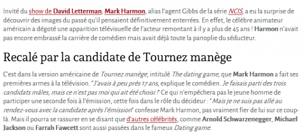 La vidéo de Mark Harmon, tout jeune, dans Tournez manège !