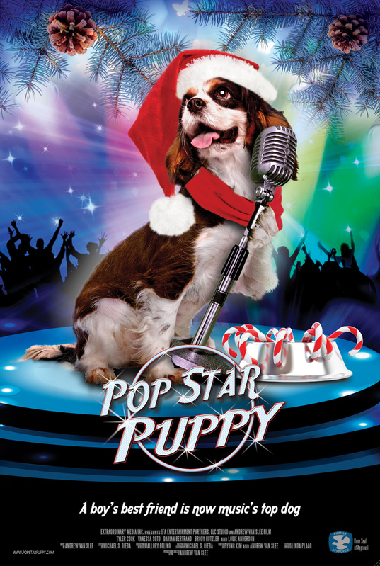 Dino chien chanteur/ Pop Star Puppy 2014
