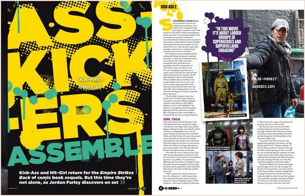 ▬ Hit girl et Kick-Ass en couverture de SFX magazine . ▬ Chloe en vedette de Empire magazine .