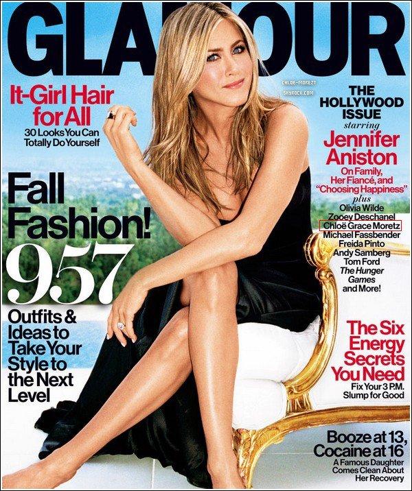 ▬ Chloe , dans le magazine Glamour du mois de septembre 2013 avec Jennifer Aniston en couverture. ▬ Découvrez la nouvelle bande-annonce de Kick-Ass2 ( en français ) .  ▬ Pour ou Contre Chloë Moretz dans Star Wars 7