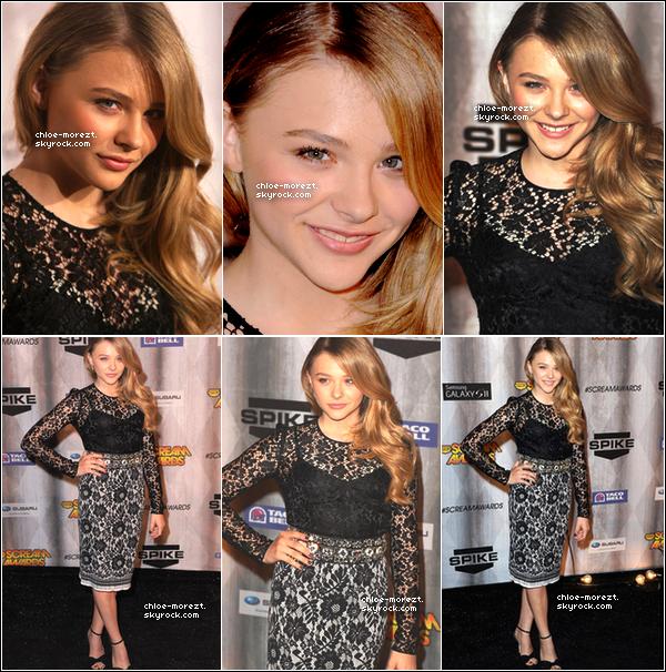 Le 15/10/11 - Chloe était présente SPIKE TV SCREAM AWARDS 2011 .