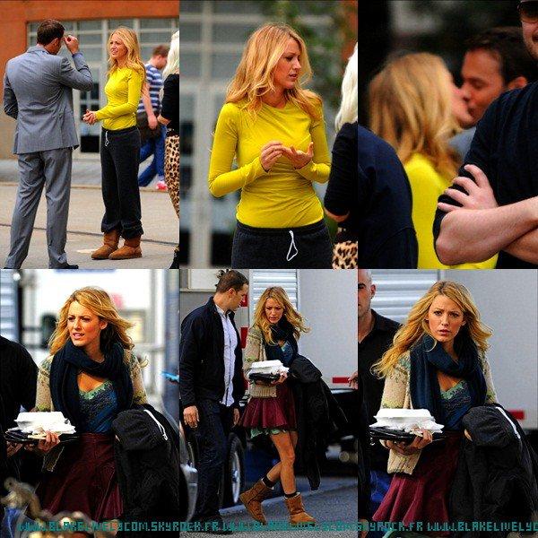♡ CANDID : 20/09/2012 : Blake sur le plateau de gossip girl (mais s'est quoi ses tenues !! :O)