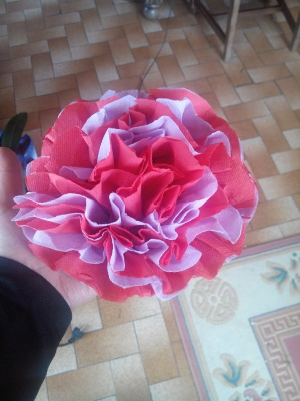 fleurs en serviette