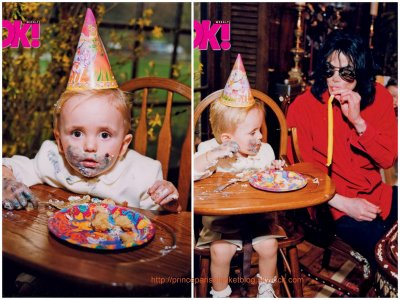 Superb Ok Magazine Exclusive Photos Michael Jacksons Life As A Dad Funny Birthday Cards Online Barepcheapnameinfo