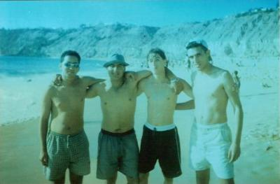 brahim abernous 2001  In the city of Safi in the sea with friends