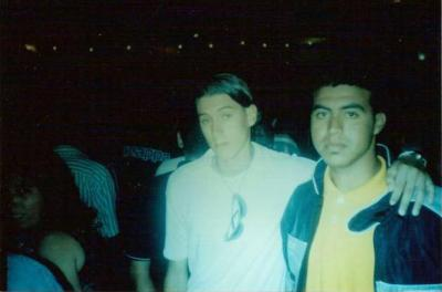 brahim abernous  and my friend 2001 in city Marrakech in morroco
