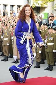 The wife of the King of Morocco  ,Moroccan caftan are worn