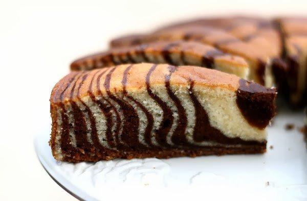 """"""" Gâteau Marbré Zébré """""""